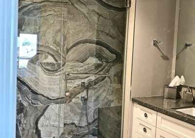 San Diego Interior Designer and Color Consultant | Anna Rodé Designs | La Jolla Beach Home Remodel Bathroom Shower Tile