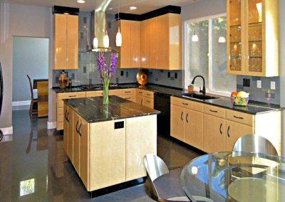 Modern Del Mar Kitchen and Powder Room