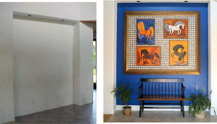 San Diego Interior Designer and Color Consultant | Anna Rodé Designs | Before and After Entry Way