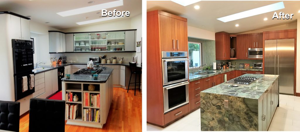 Kitchen Remodel with Waterfall Island | San Diego Interior ...