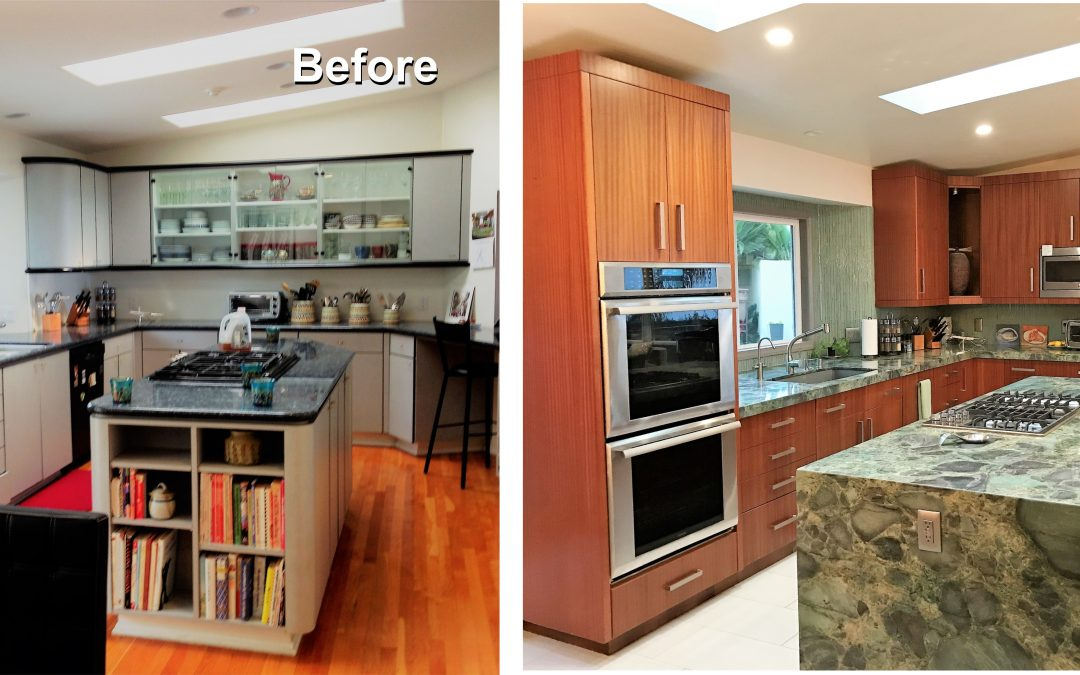 Kitchen Remodel with Waterfall Island