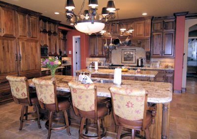 Old World Kitchen Double Island