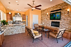 Outdoor Kitchen and Family Room