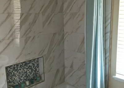 San Diego Interior Designer and Color Consultant | Anna Rodé Designs | Bathroom Remodel Shower Tile