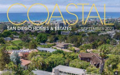 Our Feature in San Diego Union Tribune's Coastal San Diego Homes & Estates September 2021 Edition